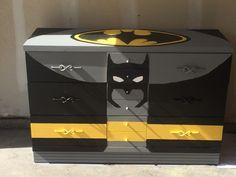 Batman Dresser With Chalkboard Paint