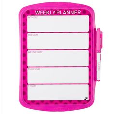 Magnetic Whiteboard Weekly Planner - Pink Dot