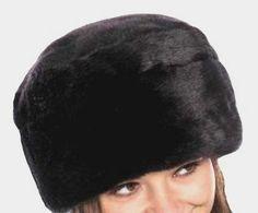 Luxury Black Faux Fur Pill Box Hat