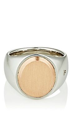 Oval-Face Signet Ring
