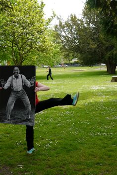 Tai  Chi  in the park with Frankie Manning