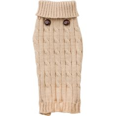 Petco Pup Crew Oatmeal Cable Knit Dog Sweater