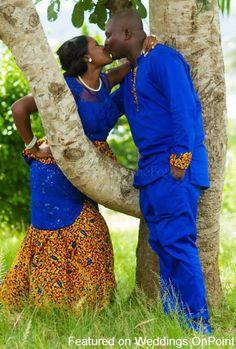 Ghanaian Bride and Groom ~