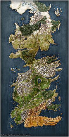 Mapa Poniente by Henning Ludvigsen, Fantasy Flight Games©