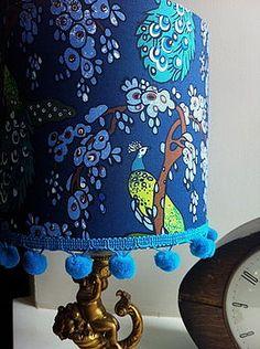 Handmade V & A Peacock Lampshade My Living Room, Peacock, Table Lamp, Interior Design, Lighting, Handmade, Inspire, Inspiration, Sewing