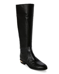 Vince Camuto Black Parshell Studded Flat Riding Boots