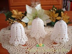 crochet - Page 3 Crochet Christmas Ornaments, Crochet Snowflakes, Christmas Bells, Christmas Crafts, Diy Projects For Teens, Diy For Teens, Crafts For Teens, Projects To Try, Craft Work
