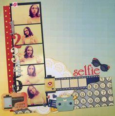 Selfie page created with Modern Miss collection for BoBunny Club Kits. Visit www.myscrappinshop.com.au to find out more. #BoBunny