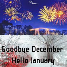 Goodbye December Hello January Images January Month, Hello January, January Images, Cover Pics For Facebook, Years Passed, Birth Flowers, Hd Wallpaper, Wish, Seasons