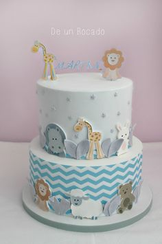 Baby animals cake Tarta infantil de animalitos