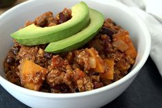 <p>This vegan sweet potato and quinoa chili is hearty and tasty, perfect for a wintery night.</p>