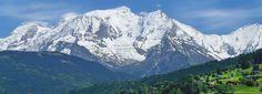 Le Mont-Blanc vu de Combloux, Haute-Savoie, France.