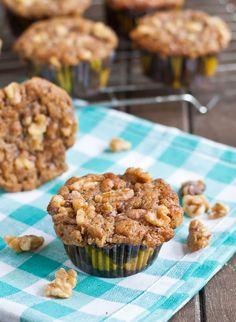 Cinnamon Banana Walnut Muffins are the perfect breakfast treat!  NeighborFoodBlog.com