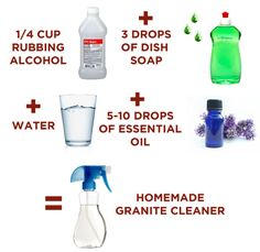 Clean your countertops and backsplash with a cleaner that works for whatever materials are in your kitchen.