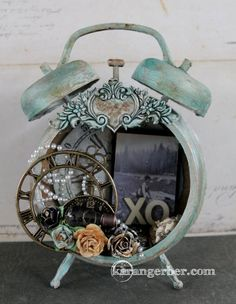 Altered Assemblage Clock - Scrapbook.com