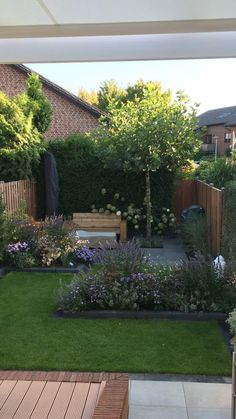Back Garden Design, Small Backyard Design, Small Backyard Gardens, Backyard Garden Design, Small Backyard Landscaping, Terrace Garden, Small Gardens, Backyard Patio, Backyard Ideas