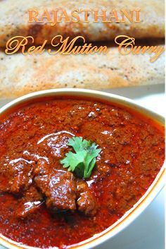 Rajasthani Laal Maas Recipe / Red Mutton Curry Recipe - think I'd choose lamb Lamb Recipes, Veg Recipes, Spicy Recipes, Curry Recipes, Indian Food Recipes, Asian Recipes, Chicken Recipes, Cooking Recipes, Healthy Recipes