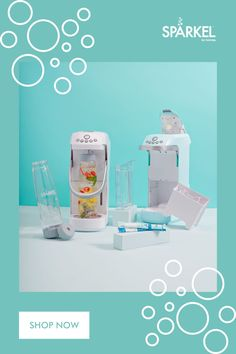 Make your own detox water, infused water and healthy drinks with Spärkel. Our beverage carbonation system does not use a co2 tank, making it effortless and easy to use. Sparkle and infuse any drink including teas, juices, wine, water and more.