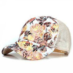 New Girls Lace Baseball Cap Floral Summer Caps Polyester Mesh Sun Hats For Women Golf Running Climbing Fitted Top Hats For Women, Caps For Women, Hats For Men, Women Hats, Country Hats, Summer Cap, 2017 Summer, Casual Summer, Best Caps
