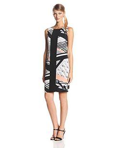 Tiana B Women's Sleeveless Printed Sheath Dress with Black Panel, Black/Multi, Large Tiana B http://www.amazon.com/dp/B00JJOU6XY/ref=cm_sw_r_pi_dp_Rxtkub0YFVQW0