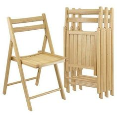 High Quality Winsome Robin 4pc Folding Chair Set Natural