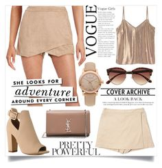 """""""summer date"""" by teo-fox on Polyvore featuring Design Lab, River Island, Yves Saint Laurent, Boston Proper, Burberry, Kate Spade and playfulskorts"""