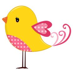 Pink and Yellow Birds - Birds09.png - Minus
