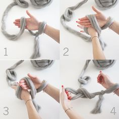 How to cast on when arm knitting.... #armknitting #craft | Full Tutorial on http://madeupstyle.blogspot.co.uk/2016/11/diy-arm-knitted-cosy-chunky-blanket.html