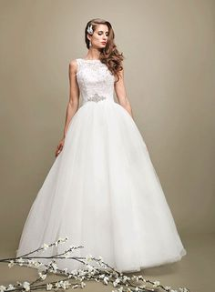 White/White, Ivory/Ivory, or Ivory/Pink Wedding Dress/Ballgown. I love the top part with the floral lace!