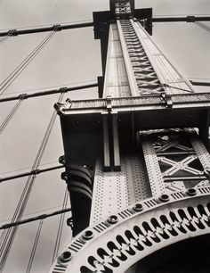 Berenice Abbott  -  Manhattan Bridge Looking Up, New York, 1936 / Silver Gelatin Print  -  16 x 20