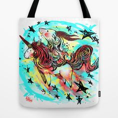 UniCapra Tote Bag by DizzyNicky - $22.00