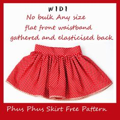 Sewing Skirts Free gathered skirt tutorial pattern - flat half front waistband back elastic Girls Skirt Patterns, Toddler Sewing Patterns, Sewing Kids Clothes, Skirt Patterns Sewing, Sewing For Kids, Free Sewing, Skirt Sewing, Pattern Sewing, Clothes Patterns