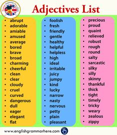 60 Most Common Adjectives, Meanings and Example Sentences - English Grammar Here Common Adjectives, English Adjectives, English Vocabulary Words, Learn English Words, English Phrases, Examples Of Adjectives, Teaching English Grammar, English Writing Skills, English Language Learning