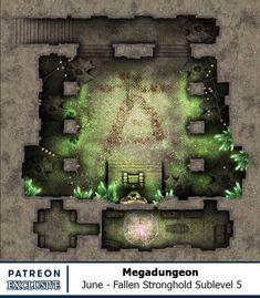 Map of the Month - Back Catalogue Fantasy Map, Medieval Fantasy, Dark Fantasy Art, Virtual Tabletop, Tabletop Rpg, Rpg Map, Dungeon Maps, Grid, Fantasy Illustration