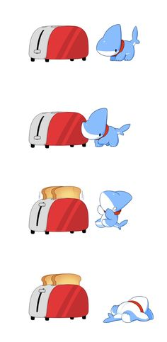 Drawing Comics Adorable Shark Puppy Comics Is The Best Thing You See Today - - Pet Shark, Baby Shark, Baby Animals, Funny Animals, Cute Animals, Cute Animal Drawings, Cute Drawings, Chibi, Susanoo