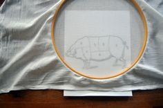 using fabric pen to decorate dishtowel