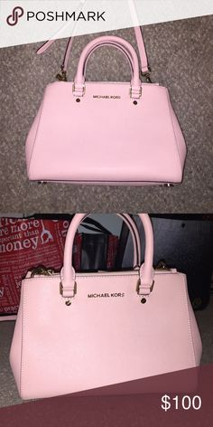 Michael Kors purse Light pink, comes with strap. It's in good condition and comes with shoulder strap. I just don't use it anymore Michael Kors Bags Crossbody Bags