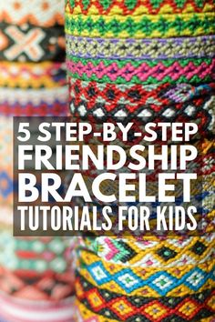 Jewelry Crafts for Kids: 31 DIY Jewelry Projects to Try at Home - - Necklaces, bracelets, and earrings, oh my ! Never hear the words 'I'm bored' again with this collection of simple but fun jewelry crafts for kids! Diy Bracelets With String, String Bracelet Patterns, Yarn Bracelets, Bracelet Crafts, Gold Bracelets, Gold Earrings, Embroidery Floss Bracelets, Diy Bracelets Patterns, Unique Earrings