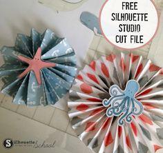 Free Paper Medallion Silhouette Studio Cut File