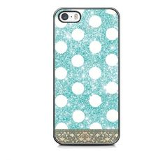 Polka Dot Turquoise Glitter Protective Case For IPhone And Samsung Galaxy (FREE Screen Protector) on Luulla