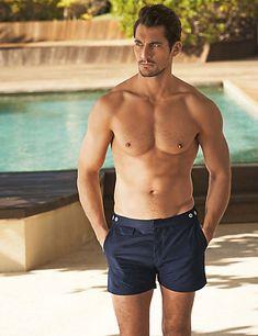 Plain Adjustable Waistband Swim Shorts | M&S