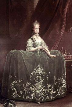 Maria Carolina of Austria (1752-1814), daughter of Maria Theresa of Austria & Francis I, Holy Roman Emperor.  Maria Carolina was an Archduchess of Austria & later Queen of Naples & Sicily (1768-1814) as wife of Ferdinand IV, King of Naples & Sicily.