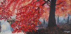 """Saatchi Art Artist Vasi Finegari; Painting, """"Heart of a mountain"""" #art"""