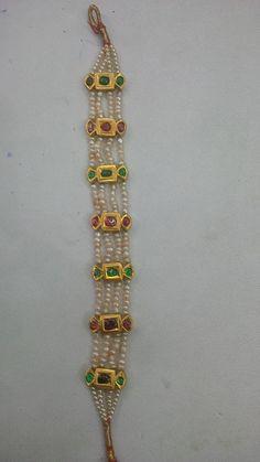 Silver Bracelet With Diamonds Royal Jewelry, India Jewelry, Pearl Jewelry, Pendant Jewelry, Antique Jewelry, Gold Jewelry, Beaded Jewelry, Temple Jewellery, Diamond Jewellery
