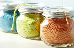 Tired of the tangle? Use our simple, quick ideas to organize yarn. Functional and pretty.