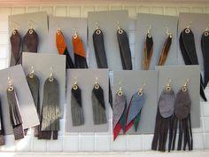 Korviksia nahkapaloista Tassel Necklace, Tassels, Jewelry, Fashion, Moda, Jewlery, Bijoux, Fashion Styles, Schmuck