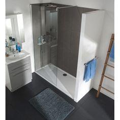 pour fermer une douche l italienne une paroi galb e avec porte serviettes int gr en verre. Black Bedroom Furniture Sets. Home Design Ideas
