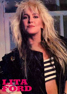 Lita Ford. I've seen her in concert, along with Def Leppard & Poison!!  #Chicago #summer2012