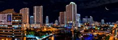 Downtown Miami cityscape by night panoramic HDR | Flickr - Photo Sharing!
