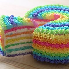 Rainbow Cake ~ Recipe The happiest cake you'll ever eat! The vibrant colors will add the perfect touch to any celebration!<br> The happiest cake you'll ever eat! The vibrant colors will add the perfect touch to any celebration! Food Cakes, Cupcake Cakes, Wilton Cakes, Sweets Cake, Beautiful Cakes, Amazing Cakes, Baking Recipes, Cake Recipes, Veg Recipes